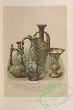 things-00206 - 070-A group of earthenware vases, by Mansard of Voisinlieu France