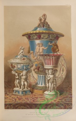 things-00210 - 075-Group of vases ,c,, by ''Minton'' of Stoke upon Trent