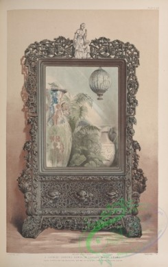 things-00235 - 117-A Chinese looking glass in carved wood frame