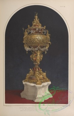 things-00244 - 129-Gold vase-enriched with jewels and enamels, by Watherston , Brogden of London