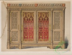 things-00258 - 155-Cabinet in oak with brass panels designed by Pugin and executed by Crace of London