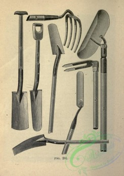 things-00400 - black-and-white Top course, bottoming-spade, scoop, span-level, tile-hook, filling-hook