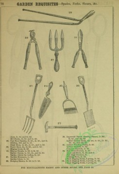 things-00550 - black-and-white Bill Hooks, Steel Spades, Duthc Hoes, Edging Shears, Garden Gloves, Tools, Weeding Forks, Common Trowels