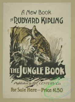 vintage_posters-00470 - 087-A new book by Rudyard Kipling, The jungle book