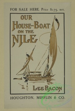 vintage_posters-00521 - 138-For sale here (,) our house-boat on the Nile