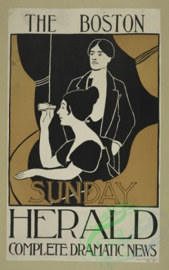 vintage_posters-00630 - 009-The Boston Sunday herald, Complete dramatic news