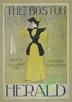 vintage_posters-00632 - 011-The Boston Sunday herald, Ladies all want the fashion supplement