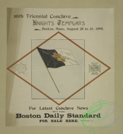 vintage_posters-00645 - 024-26th triennial conclave, Knights Templars, Boston, Mass,, August 25 to 31, 1895