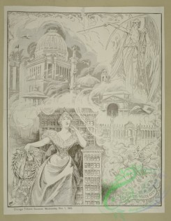 vintage_posters-00649 - 028-The passing of the white city, Chicago tribune souvenir, Wednesday, Nov, 1, 1893