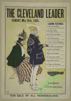 vintage_posters-00653 - 032-The Cleveland leader, Sunday, May 26th, 1895