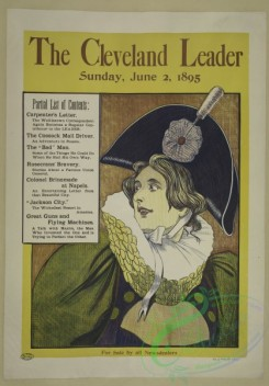 vintage_posters-00654 - 033-The Cleveland leader, Sunday, June 2, 1895