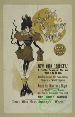 vintage_posters-00710 - 092-The New York Sunday world, Sunday Oct 20th, 1895