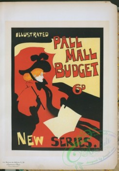 vintage_posters-00957 - 244-Affiche anglaise pour la revue hebdomadaire ''Illustrated Pall Mall Budget''